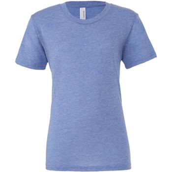 Textil Homem T-Shirt mangas curtas Bella + Canvas CA3413 Blue Triblend