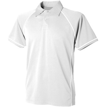 Textil Homem Polos mangas curta Finden & Hales Piped Branco/branco
