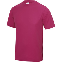 Textil Homem T-Shirt mangas curtas Awdis JC001 Rosa Quente