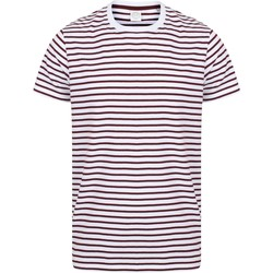Textil T-Shirt mangas curtas Skinni Fit SF202 Branco/Burgundy