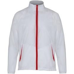 Textil Homem Corta vento 2786  Branco/ Vermelho
