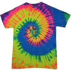 Textil Mulher T-Shirt mangas curtas Colortone Rainbow Arco-íris de Neon