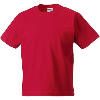 Textil Criança T-Shirt mangas curtas Jerzees Schoolgear ZT180B Vermelho clássico