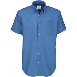 Textil Homem Camisas mangas curtas B And C SMO02 Blue Chip
