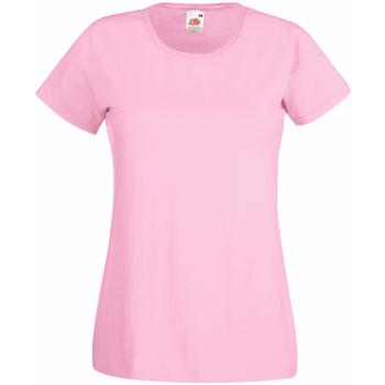 Textil Mulher T-Shirt mangas curtas Universal Textiles 61372 Pastel Pink
