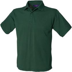 Textil Homem Polos mangas curta Henbury HB400 Garrafa Verde