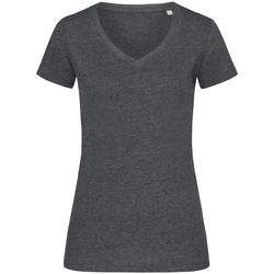 Textil Mulher T-Shirt mangas curtas Stedman Stars  Carvão Heather Grey