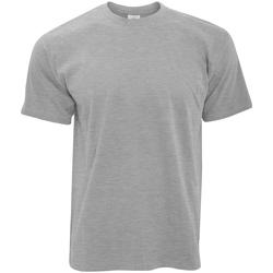 Textil Homem T-Shirt mangas curtas B And C TU004 Sport Grey