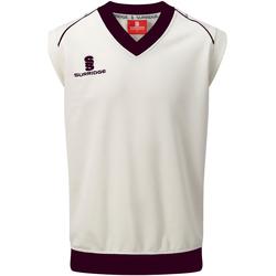 Textil Homem Tops sem mangas Surridge SU012 Branco/ Maroon trim