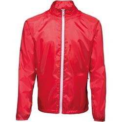 Textil Homem Corta vento 2786  Vermelho/ Branco