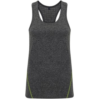 Textil Mulher Tops sem mangas Tridri TR041 Melange preto