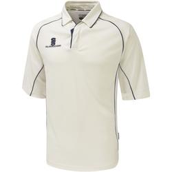 Textil Rapaz Polos mangas curta Surridge SU01B Branco/Navy trim