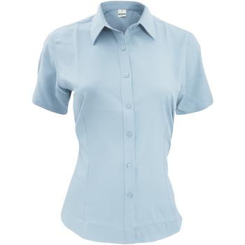 Textil Homem Camisas mangas curtas Henbury HB596 Azul claro