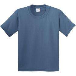 Textil Criança T-Shirt mangas curtas Gildan 5000B Azul Índigo