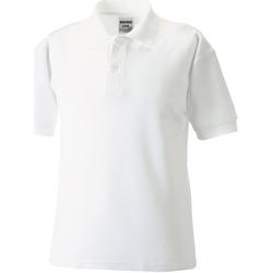 Textil Rapaz Polos mangas curta Jerzees Schoolgear 539B Branco