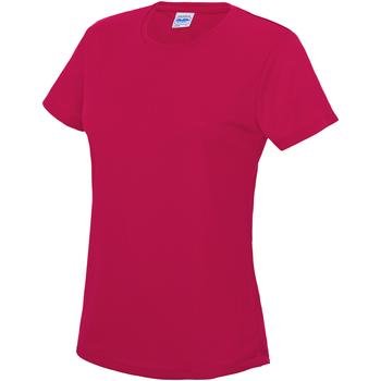 Textil Mulher T-Shirt mangas curtas Awdis JC005 Rosa Quente