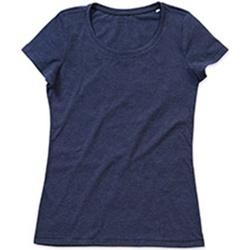 Textil Mulher T-Shirt mangas curtas Stedman Stars Lisa Marinha Heather