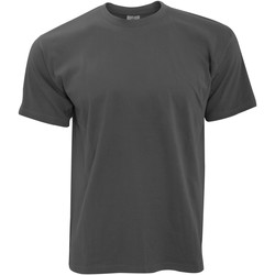 Textil Homem T-Shirt mangas curtas B And C TU004 Cinza Escuro