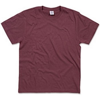 Textil Homem T-Shirt mangas curtas Stedman  Vermelho Bourgogne
