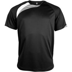 Textil Homem T-Shirt mangas curtas Kariban Proact PA436 Preto/ Branco/ Cinza Tempestade
