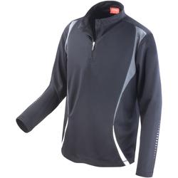 Textil Mulher Casacos fato de treino Spiro S178X Preto-acinzentado/branco