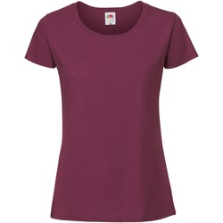 Textil Mulher T-Shirt mangas curtas Fruit Of The Loom 61424 Oxblood