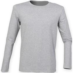 Textil Homem T-shirt mangas compridas Skinni Fit SF124 Heather Grey