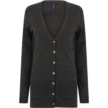 Textil Mulher Casacos de malha Henbury Fine Knit Grey Marl