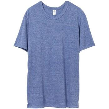 Textil Homem T-Shirt mangas curtas Alternative Apparel AT001 Eco Pacífico Azul