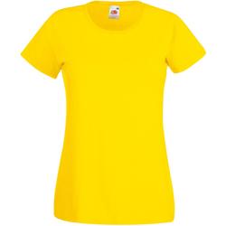 Textil Mulher T-Shirt mangas curtas Universal Textiles 61372 Amarelo Brilhante