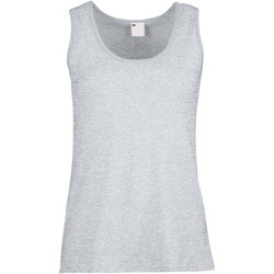 Textil Mulher Tops sem mangas Universal Textiles Fitted Grey Marl