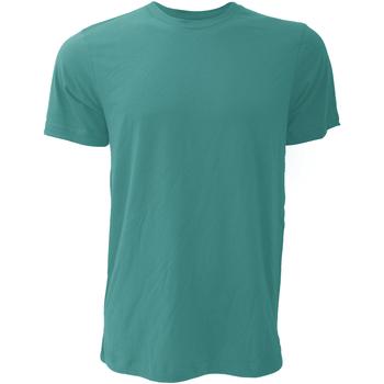 Textil Homem T-Shirt mangas curtas Bella + Canvas CA3001 Teal profundo