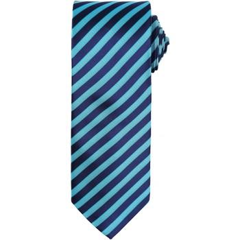 Textil Homem Gravatas e acessórios Premier PR782 Turquesa / Marinha