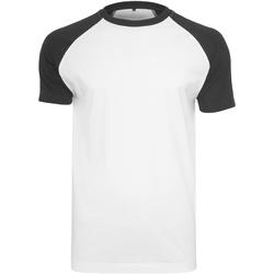 Textil Homem T-Shirt mangas curtas Build Your Brand BY007 Branco/Preto