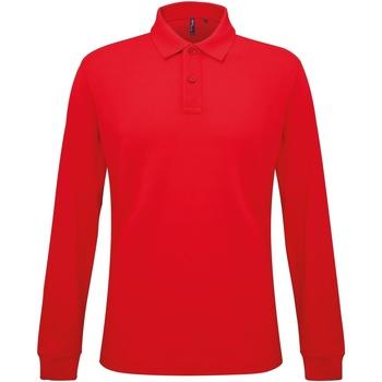 Textil Homem Polos mangas compridas Asquith & Fox AQ030 Vermelho clássico