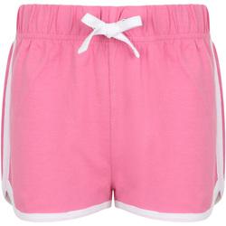 Textil Criança Shorts / Bermudas Skinni Fit SM069 Cor-de-rosa/branco brilhante