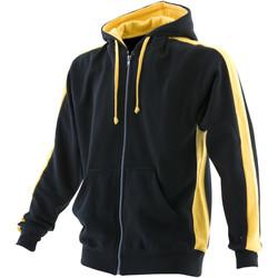 Textil Homem Sweats Finden & Hales LV330 PRETO/YELLOW