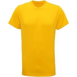 Textil Homem T-Shirt mangas curtas Tridri TR010 Sol Amarelo