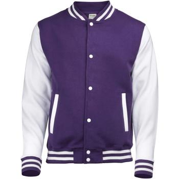 Textil Criança Jaquetas Awdis JH43J Púrpura/branco