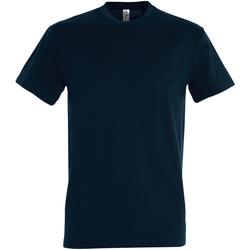 Textil Homem T-Shirt mangas curtas Sols 11500 Azul Petróleo