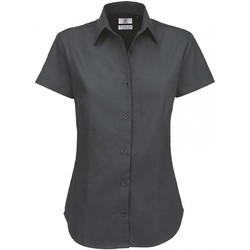 Textil Mulher camisas B And C SWT84 Cinza Escuro