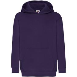 Textil Criança Sweats Fruit Of The Loom 62043 Púrpura