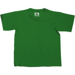 Textil Criança T-Shirt mangas curtas B And C Exact Garrafa Verde