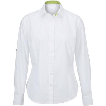 Textil Mulher camisas Alexandra AX060 Branco/ Cal