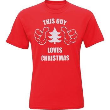 Textil Homem T-Shirt mangas curtas Christmas Shop CJ200 Vermelho