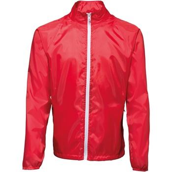 Textil Homem Corta vento 2786 TS011 Vermelho/ Branco