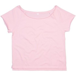 Textil Mulher T-Shirt mangas curtas Mantis Dance Rosa suave