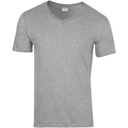 Textil Homem T-Shirt mangas curtas Gildan 64V00 Sport Grey (RS)