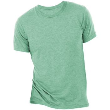 Textil Homem T-Shirt mangas curtas Bella + Canvas CA3413 Sea Green Triblend