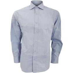 Textil Homem Camisas mangas comprida Kustom Kit KK118 Azul claro